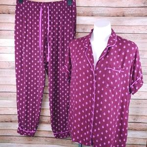 Gilligan & O'Malley burgundy lightweight pajamas L